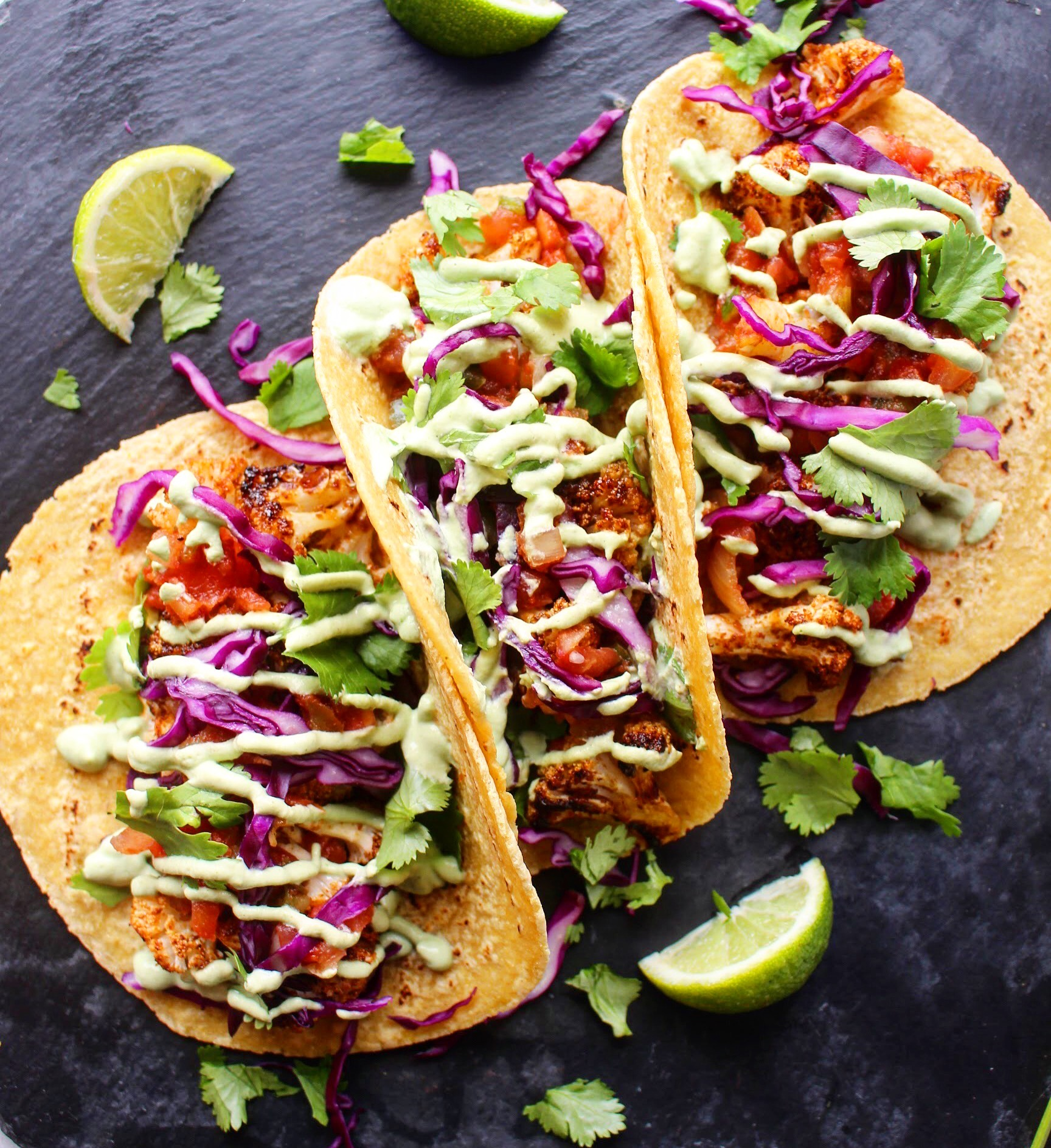 Mexican Spiced Cauliflower Tacos Plant Based Blonde